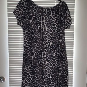 Express Leopard Print Bodycon Mini (M)